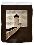 Nobska Lighthouse Duvet Cover by Skip Willits