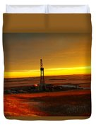 Nomac Drilling Keene North Dakota Duvet Cover