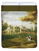 Nonsuch Palace In The Time Of King Duvet Cover