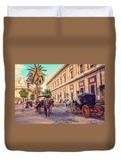 Noon At Cathedral Square. Seville Duvet Cover