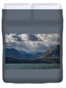 Noontide At St. Mary Lake Duvet Cover