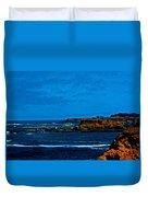 Nor Cal Seascape Duvet Cover