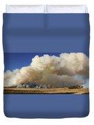 Norbeck Prescribed Fire Smoke Column Duvet Cover