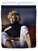 Norma Jeane Baker Duvet Cover by Reggie Duffie