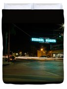 Normal Heights Neon Duvet Cover by John Daly