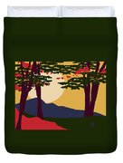 North American Landscape Duvet Cover