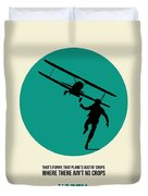 North By Northwest Poster 1 Duvet Cover by Naxart Studio