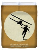 North By Northwest Poster Duvet Cover by Naxart Studio