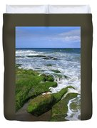 North Carolina Coastal Rocks Duvet Cover