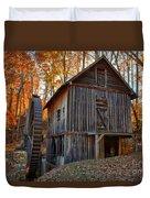 North Carolina Grist Mill Photo Duvet Cover