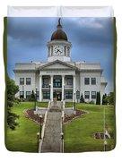 North Carolina Jackson County Courthouse Duvet Cover