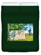 North Carolina Memorial Gettysburg Battleground Duvet Cover