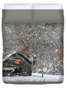 North Carolina Quilt Barn Duvet Cover