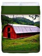 North Carolina Red Barn Duvet Cover