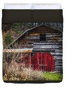 North Carolina Red Door Barn Duvet Cover