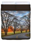 North Carolina Sloan Park Sunset Duvet Cover