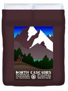 North Cascades National Park Vintage Poster Duvet Cover