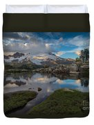 North Cascades Tarn Reflection Duvet Cover