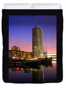 North Dock In Canary Wharf. Duvet Cover