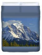 1m3549-north Face Of Mt. Temple Duvet Cover