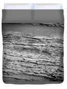 North Fork Of The Flathead River Montana Bw Duvet Cover
