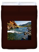 North Fork Of The Shoshone River Duvet Cover