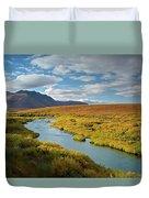North Klondike River Flowing Duvet Cover