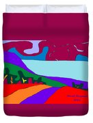 North Saanich Field And Inlet Duvet Cover