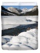 North Saskatchewan River In Winter Duvet Cover