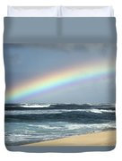 North Shore Oahu Rainbow Duvet Cover