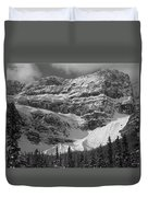 1m3536-bw-north Side Crowfoot Mountain  Duvet Cover