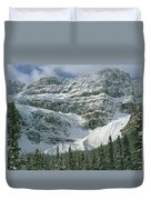 1m3536-north Side Of Crowfoot Mountain Duvet Cover