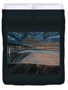 North Side Of The Ventura Pier Duvet Cover