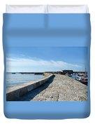 North Wall - Lyme Regis Harbour 2 Duvet Cover
