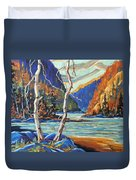 North West Lake By Prankearts Duvet Cover