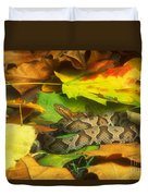 Northern Copperhead Camouflaged Duvet Cover