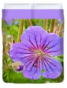 Northern Geranium By Transfiguration Of Our Lord Russian Orthodox Church In Ninilchik-ak Duvet Cover