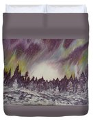 Northern Lights  Duvet Cover by Irina Astley