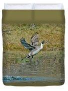 Northern Pintail Drake Taking Duvet Cover