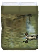 Northern Pintail In A Quiet Pond California Wildlife Duvet Cover