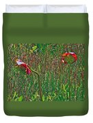Northern Pitcher Plant In French Mountain Bog On Cape Breton Isl Duvet Cover