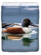 Northern Shoveler Duvet Cover
