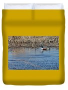 Northern Shoveler Swim Duvet Cover