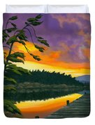 After Glow - Oil / Canvas Duvet Cover