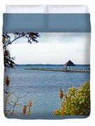 Northside Park Fishing Pier Duvet Cover