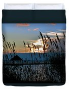 Ocean City Sunset At Northside Park Duvet Cover