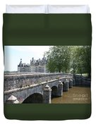 Northwest Facade Of The Chateau De Chambord Duvet Cover