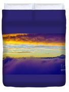 Northwest Sunrise Cloudscape Duvet Cover