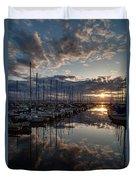 Northwest Sunset Marina Duvet Cover