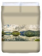 Norway Serenity In Panorama Duvet Cover